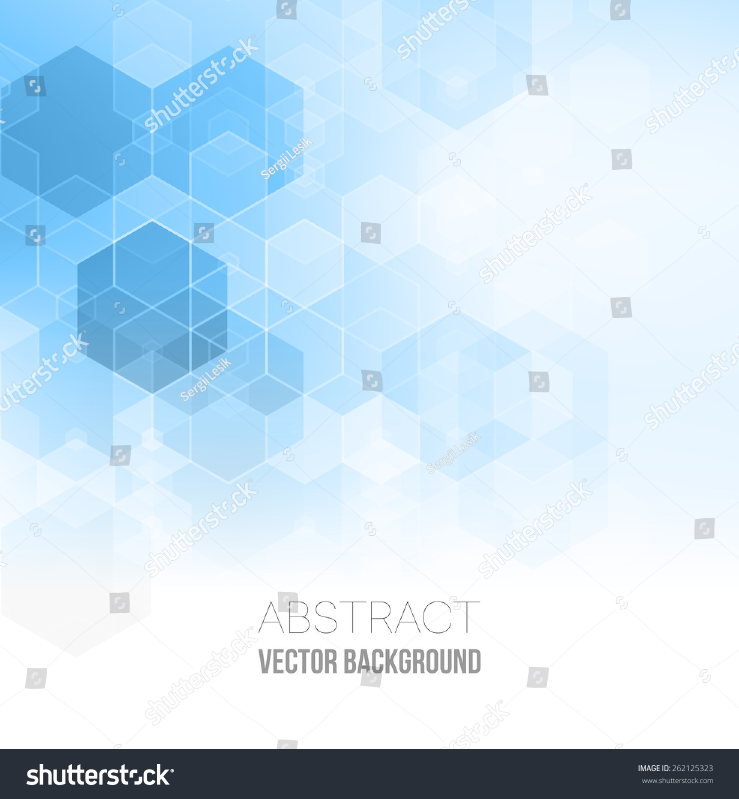Vector Abstract Geometric Background Template Brochure Stock Vector