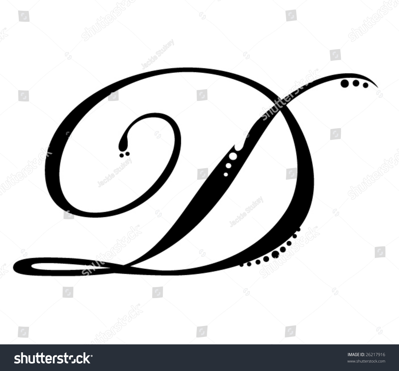 Letter D Cursive - Laptuoso