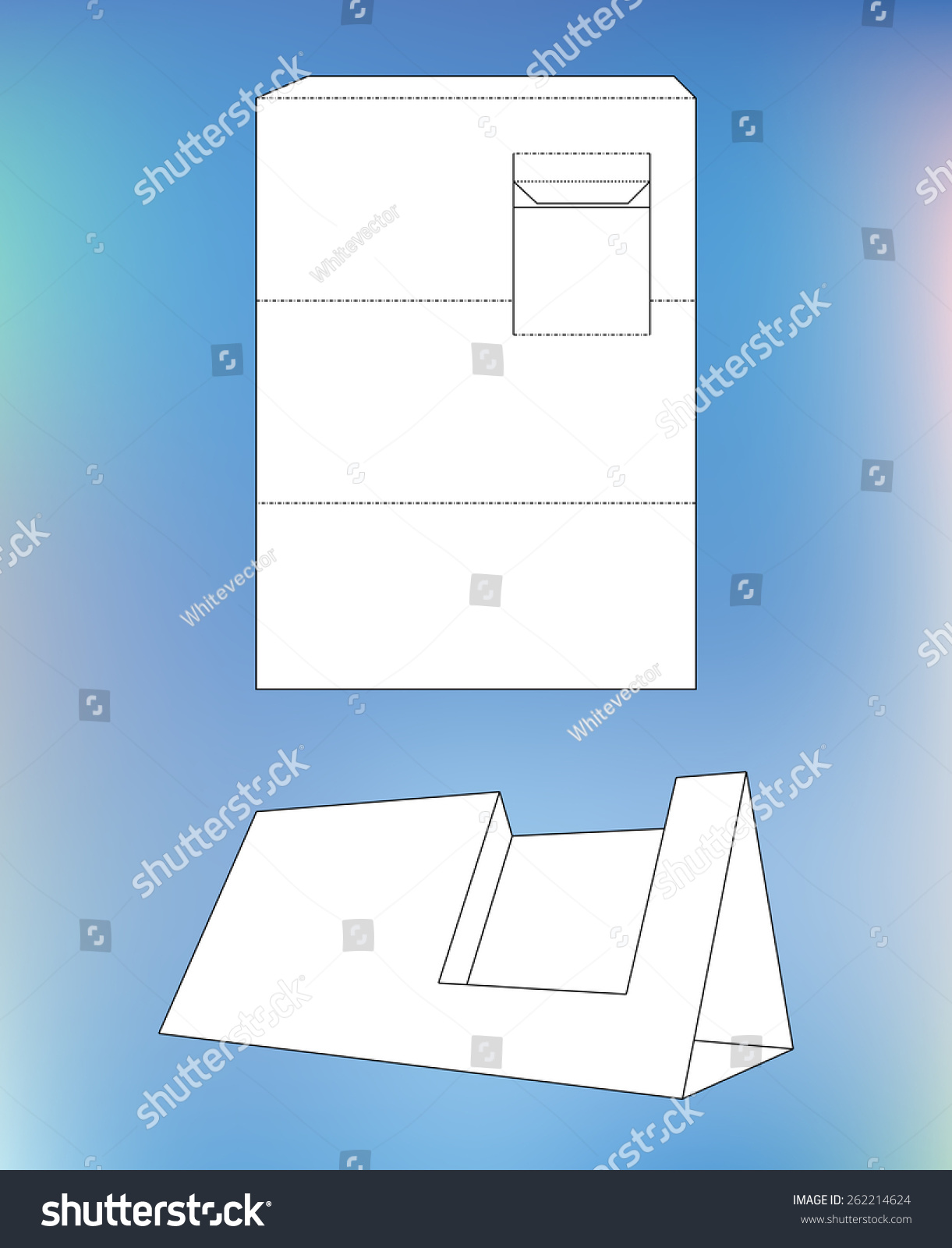Business card display box product display vector de stock262214624 product display box with blueprint layout business card holder and malvernweather Images