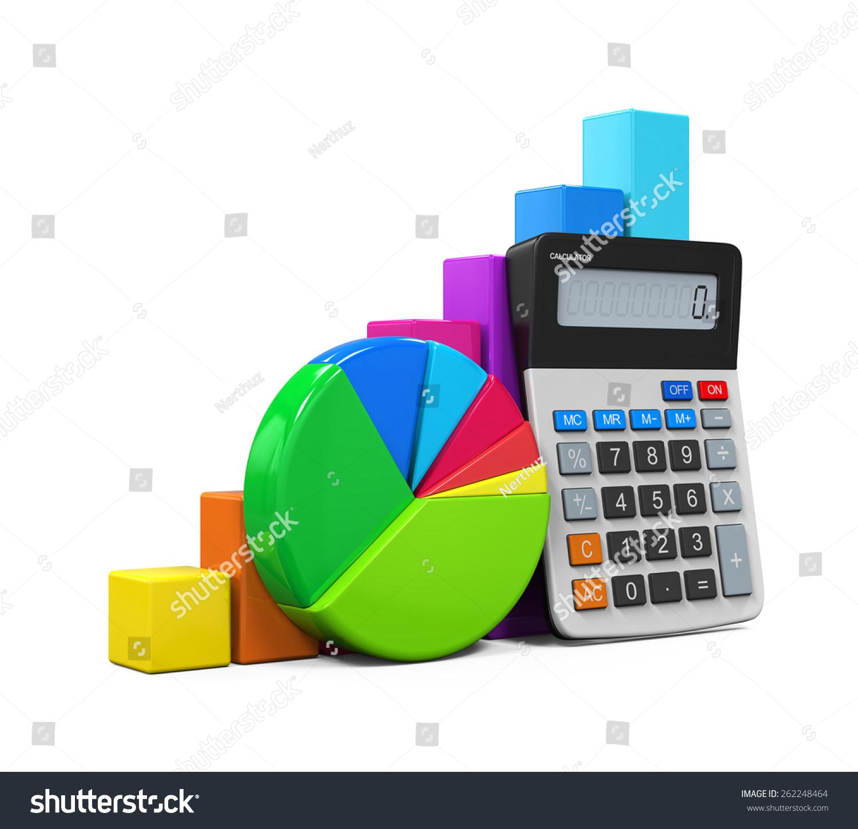 Calculator bar graph pie chart stock illustration 262248464 calculator with bar graph and pie chart ccuart Gallery