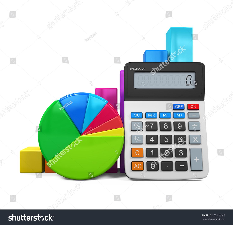 Calculator bar graph pie chart stock illustration 262248467 calculator with bar graph and pie chart ccuart Gallery