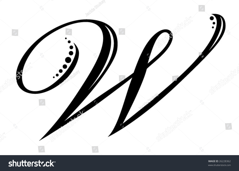 Letter W Script Stock Vector Royalty Free 26228362 Shutterstock