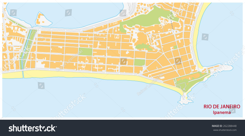 Ipanema Map Stock Vector 262288448 Shutterstock
