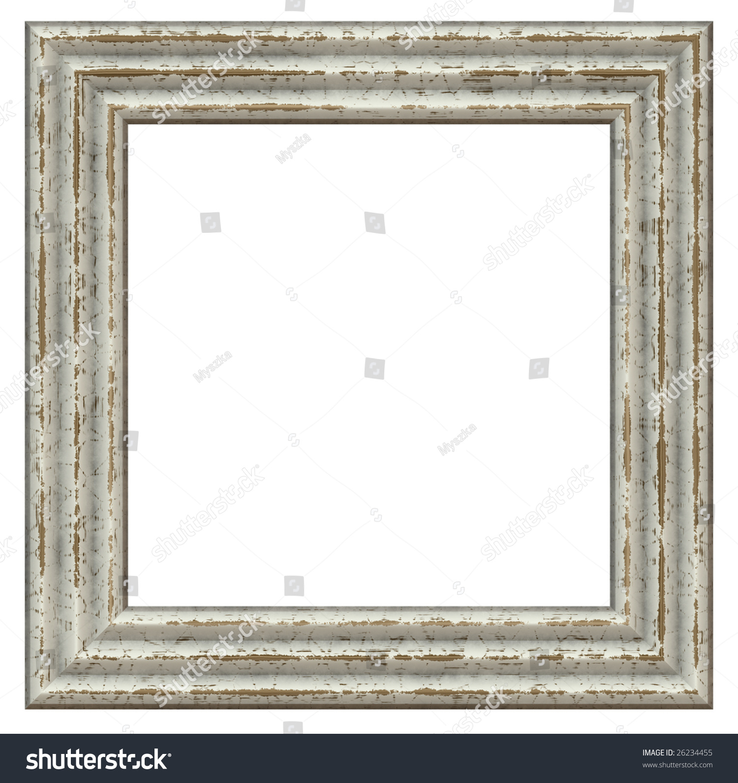 old wooden square frame