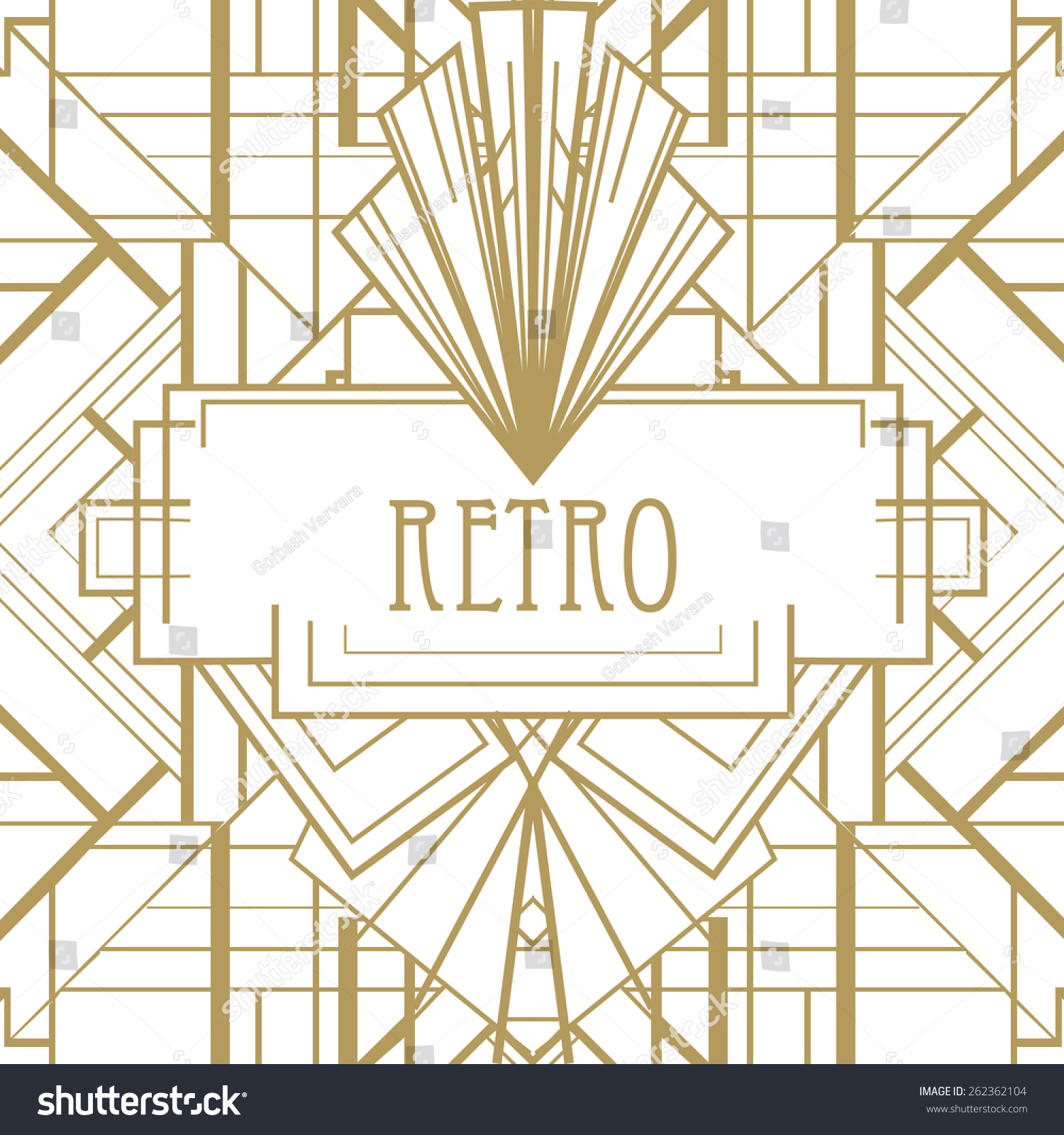 Art Deco Geometric Pattern 1920s Style Stock Vector ...