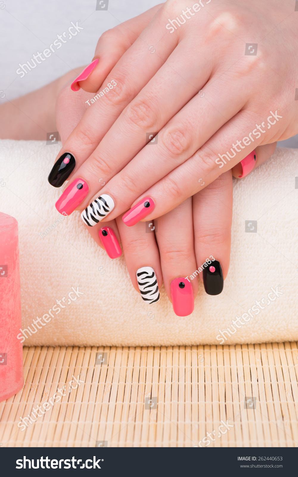 Beautifully Manicured Woman Fingernails