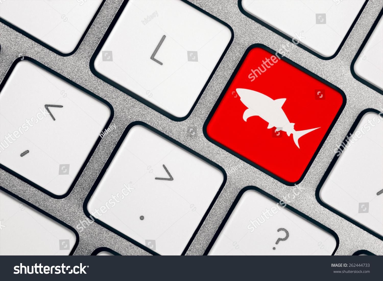 Computer Keyboard Shark Symbol Stock Photo (Edit Now) 262444733