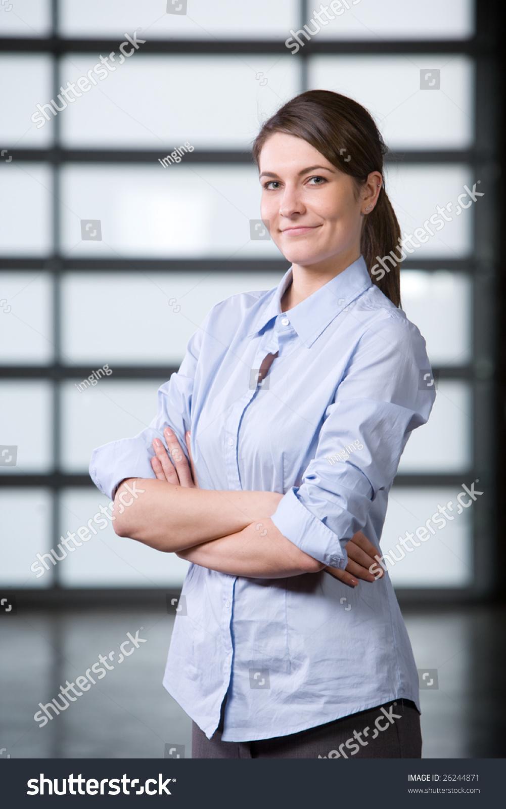 Business woman portrait modern office stock photo 26244871 shutterstock - Office portrait photography ...