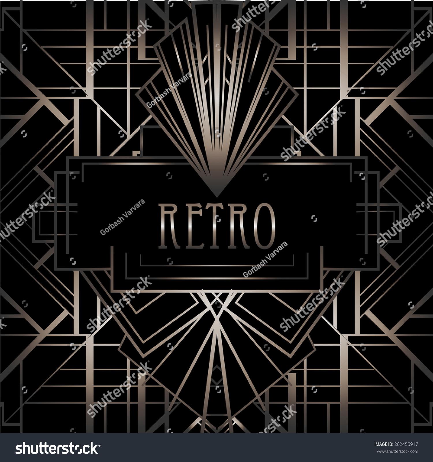 art deco geometric pattern 1920 s style image vectorielle de stock