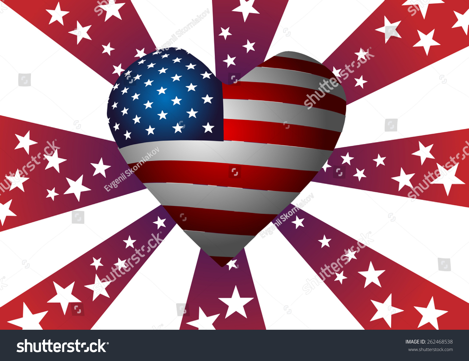 Vector illustration symbolism american flag heart stock vector the symbolism of the american flag heart stars and stripes biocorpaavc Images