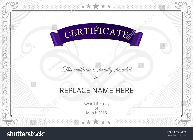 Certificate border certificate template vector illustration stock certificate border certificate template vector illustration yadclub Images