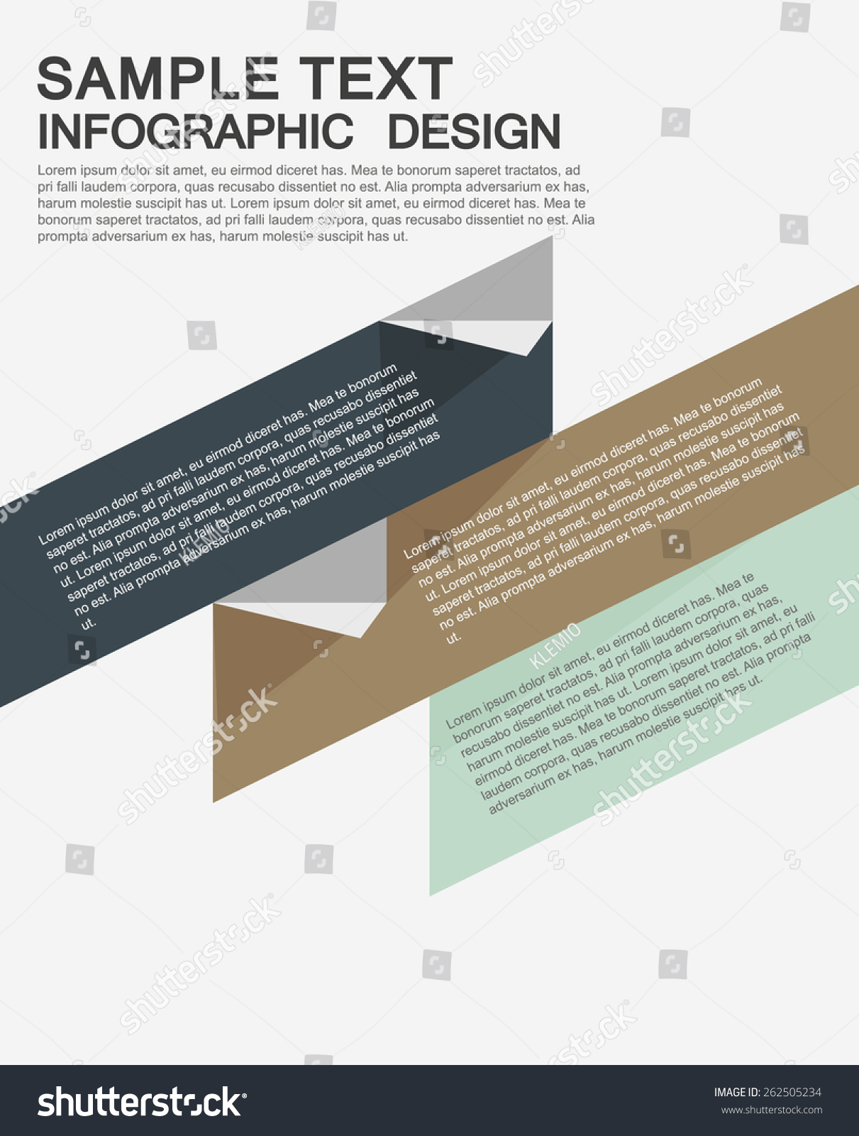 Options Business Proposal Business Brochures Templates Stock Vector
