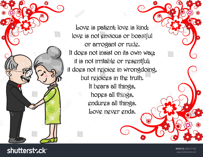 Wedding Anniversary Greeting Card Vector Stock Vector Royalty Free