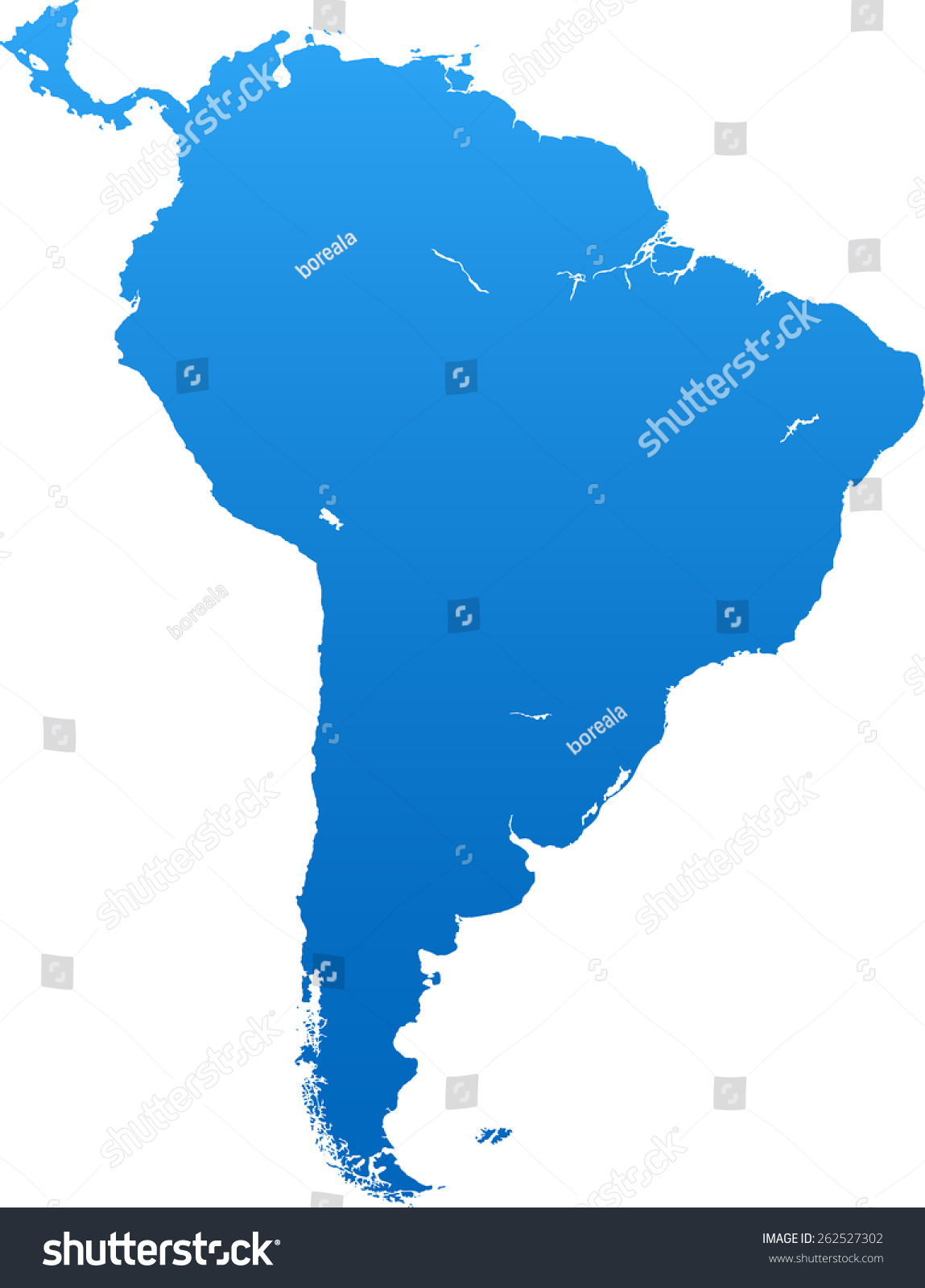 South America map South America Map Stock