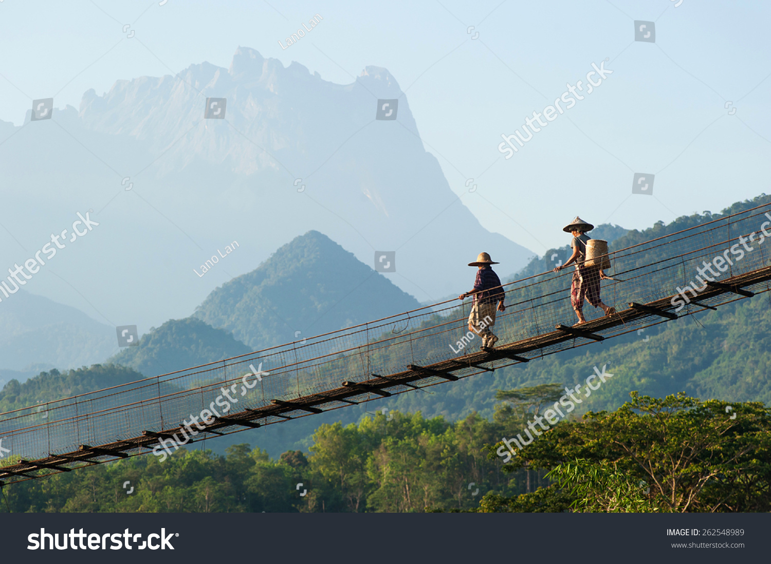 Kota Belud Malaysia  City pictures : Kota Belud, Sabah Malaysia March 22, 2015.Two unidentified villagers ...