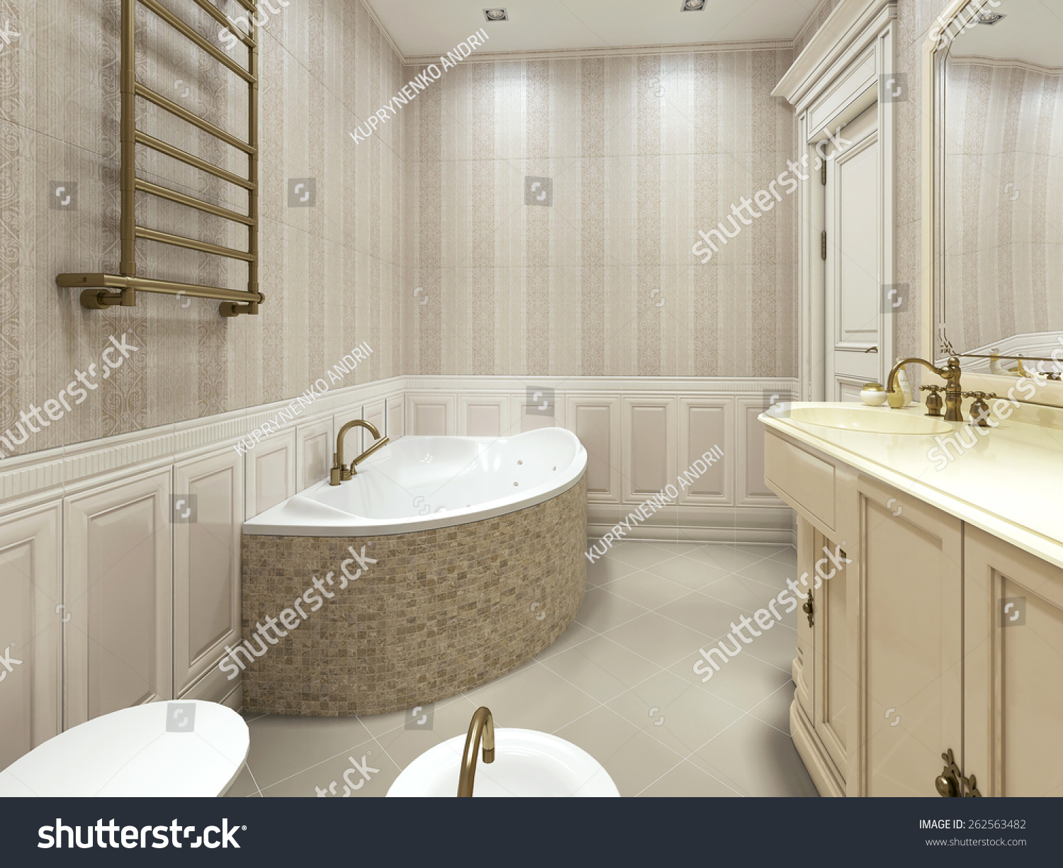 The interior of bathroom. | EZ Canvas