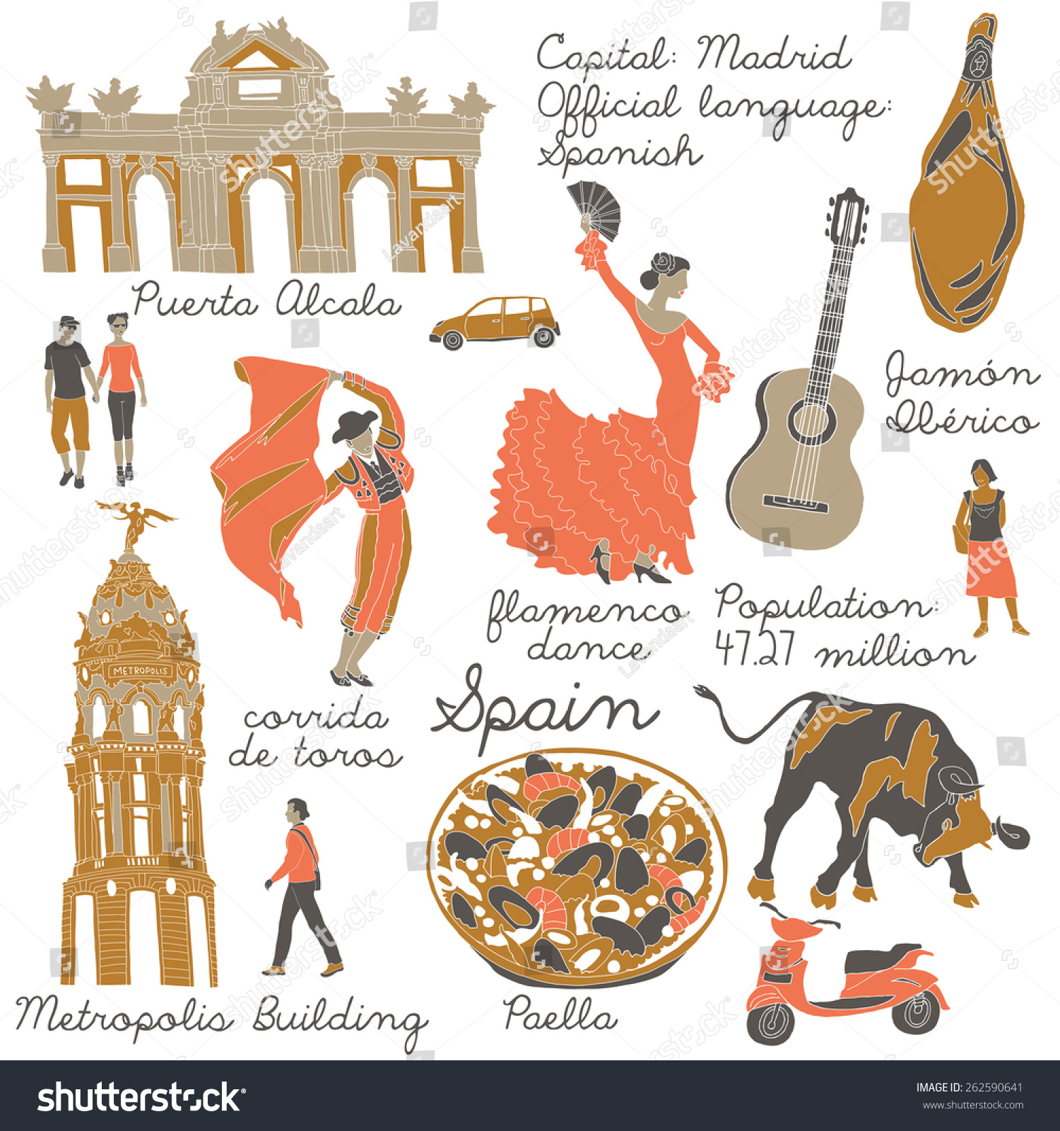 Set Of Spanish Symbols Vector Art | Thinkstock