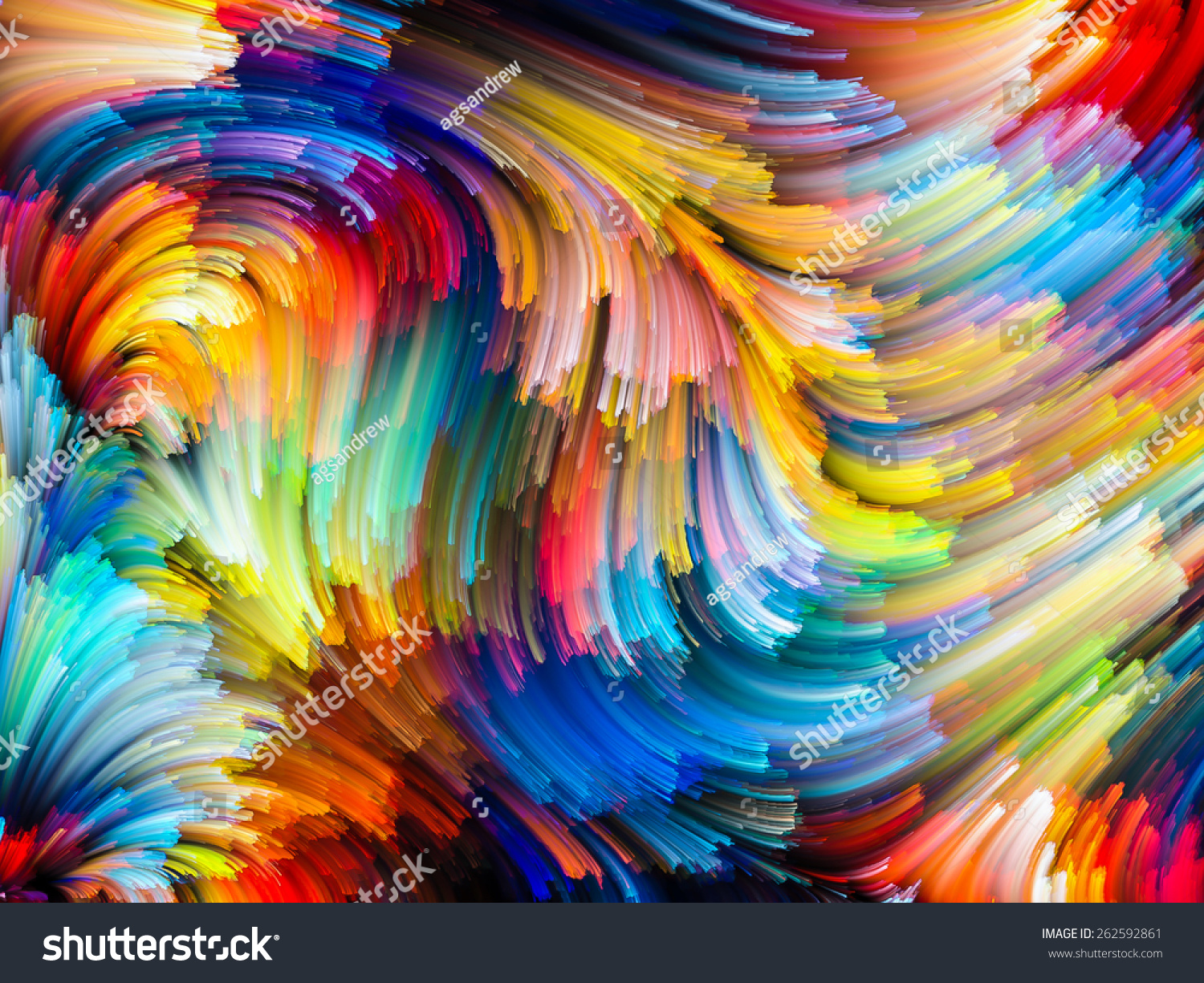 Dynamic Color Series Abstract Design Made Stock ...