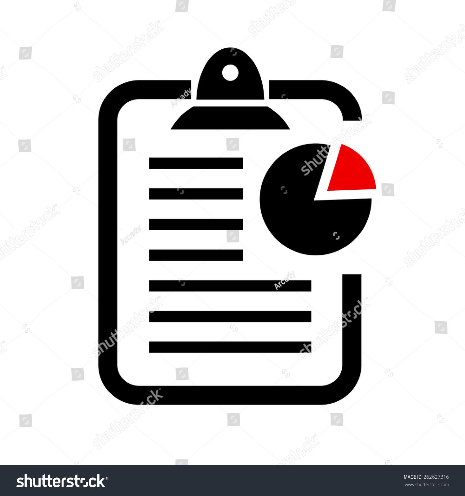 Report Vector Icon - 262627316 : Shutterstock