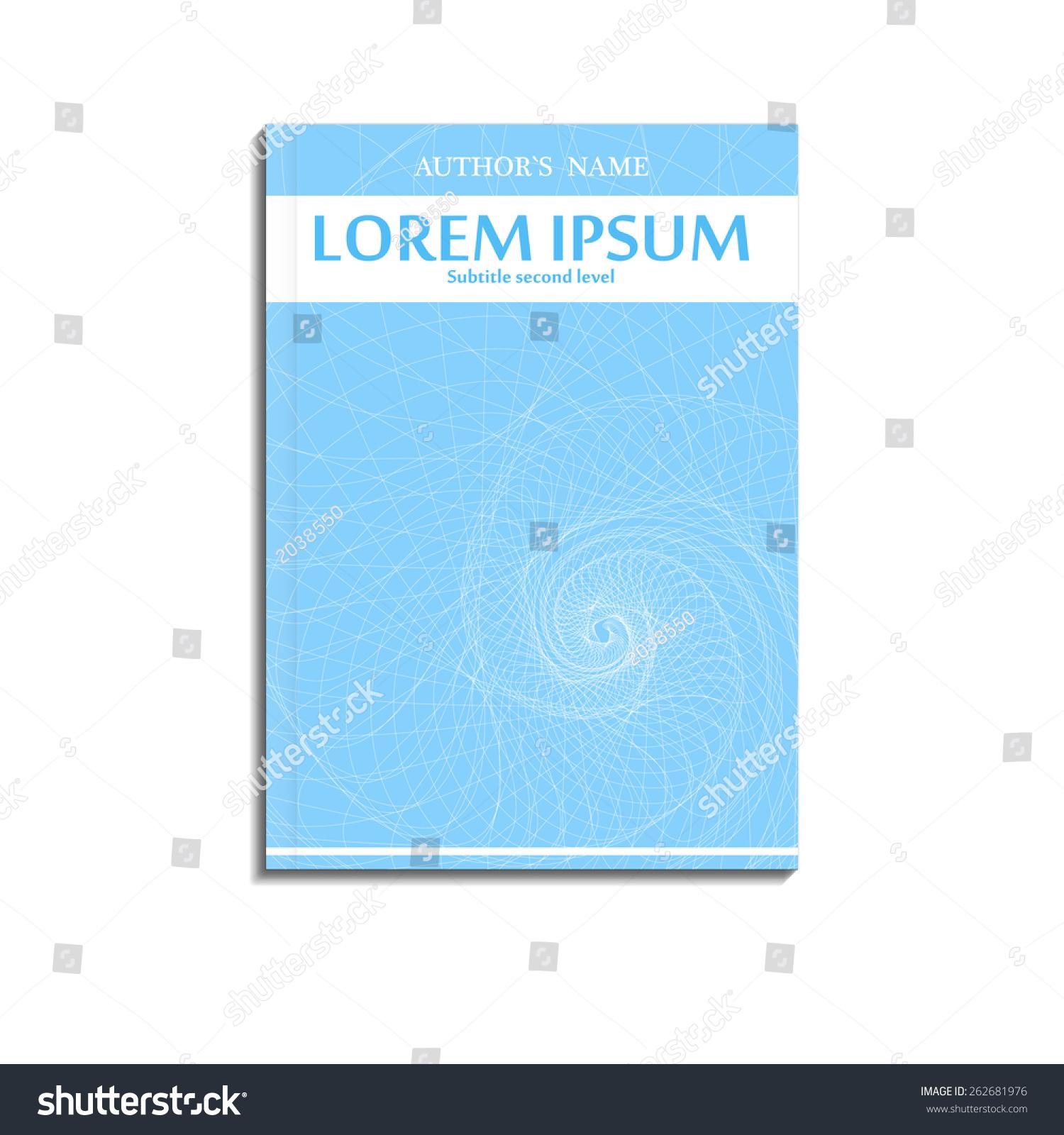 Vector Book Cover Template White Spiral Stock Vector 262681976