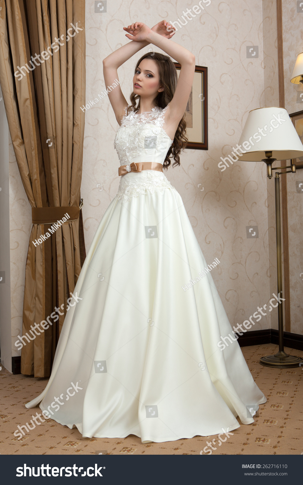 Wedding Dress Young Bride Tries On Stock Photo 262716110 - Shutterstock