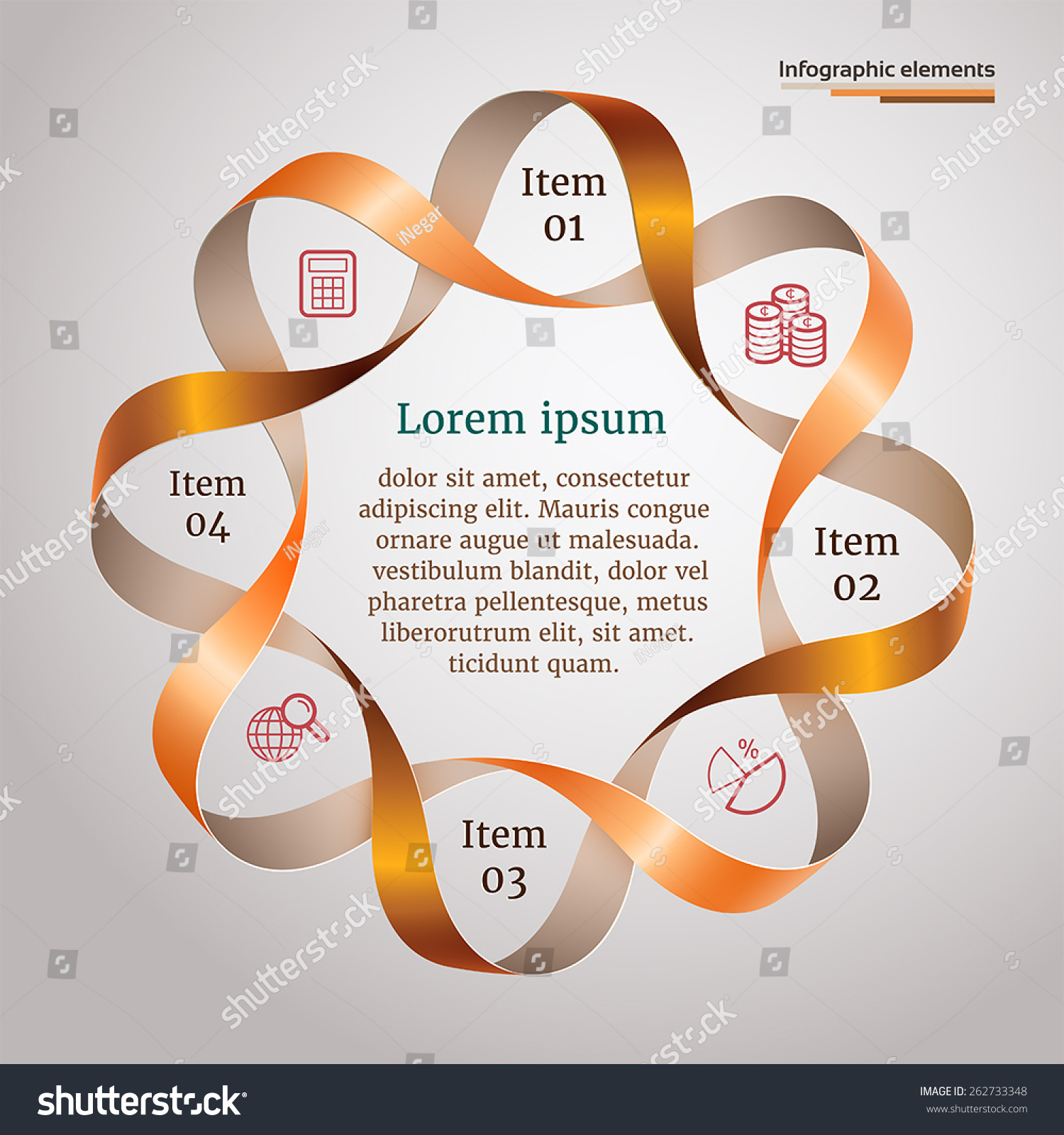 Round Infographic Twisted Shape 3d Ribbons Stock Vector ... - photo#48