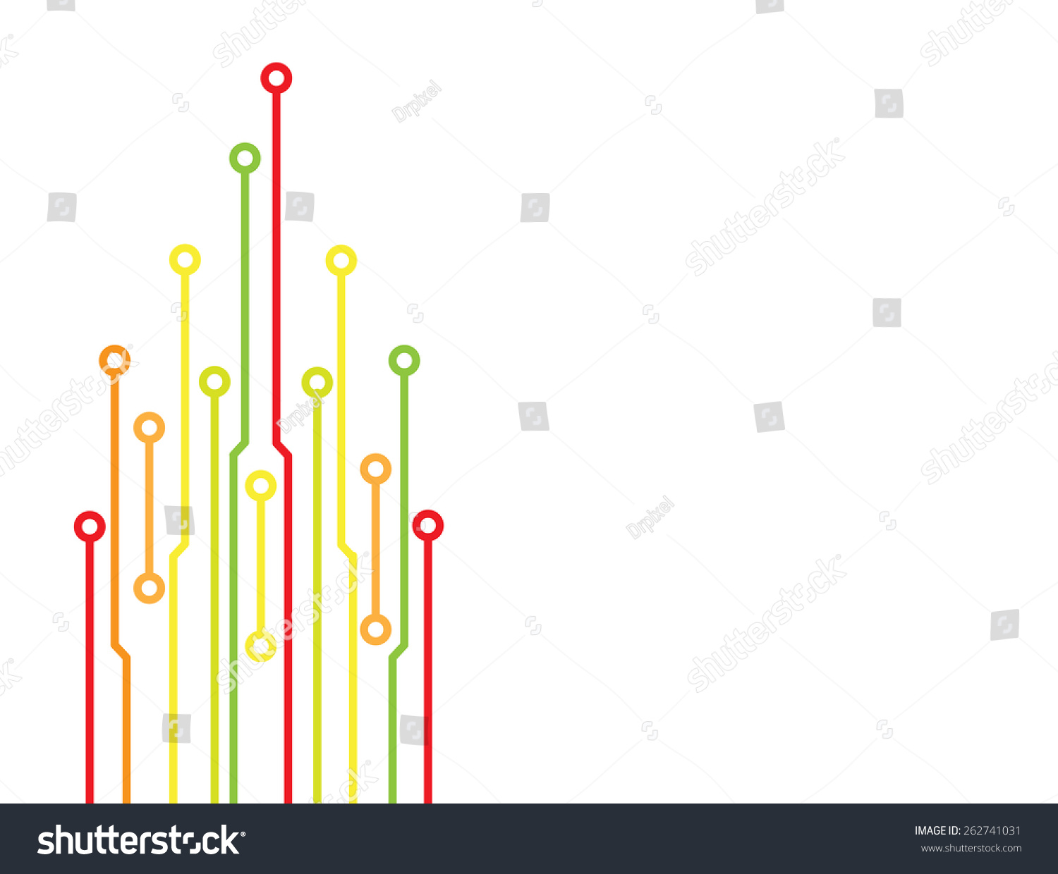 Colored Circuit Board Concept Energy Efficient Stock Vector Royalty Saver As For Electronics