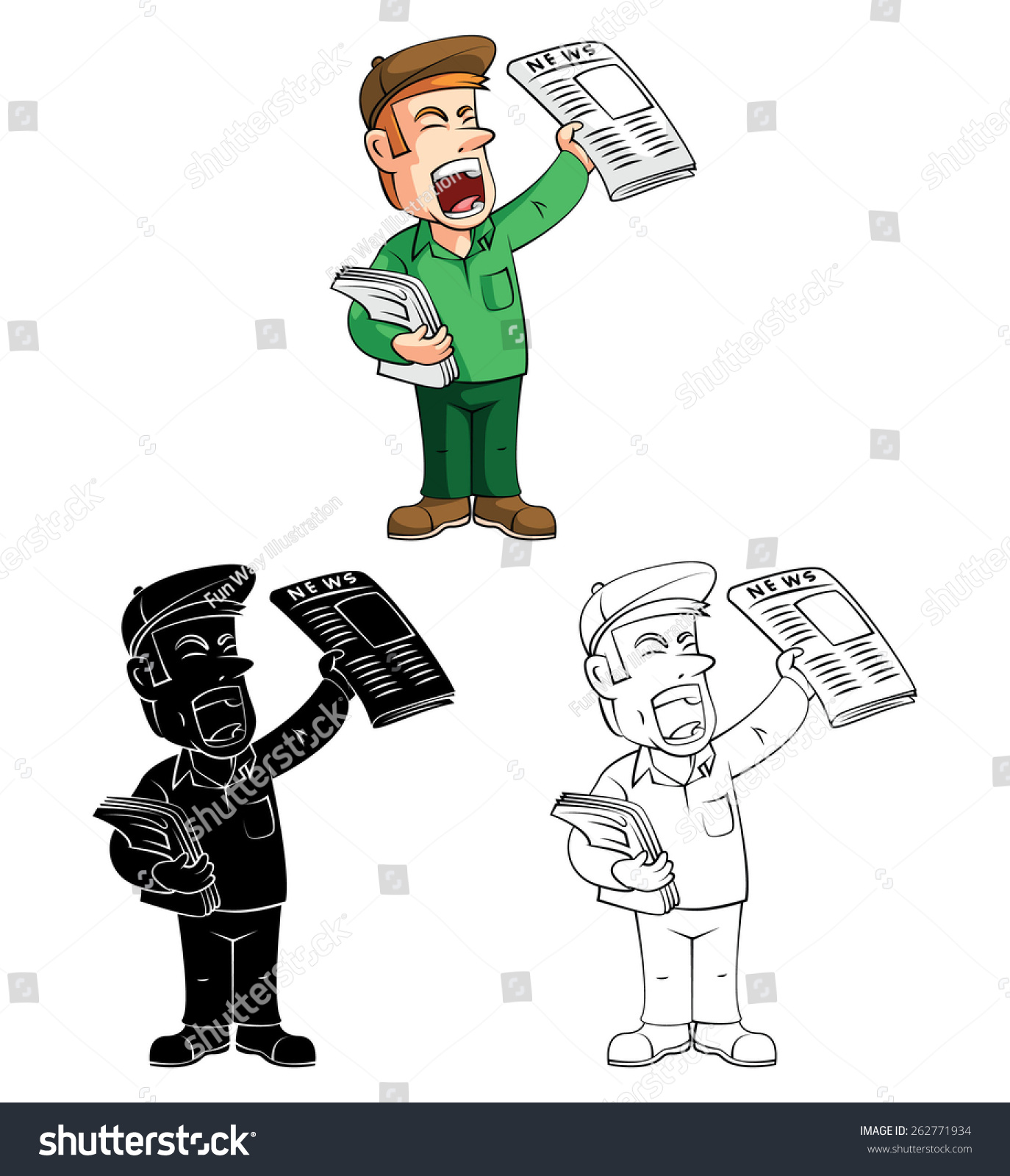 coloring book paper boy cartoon character - Coloring Book Paper Stock