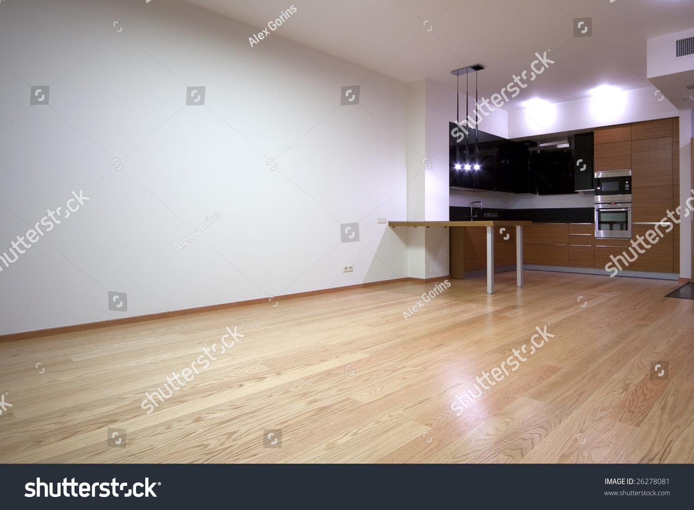 Empty Kitchen Wall Empty Living Room Builtin Kitchen Stock Photo 26278081 Shutterstock