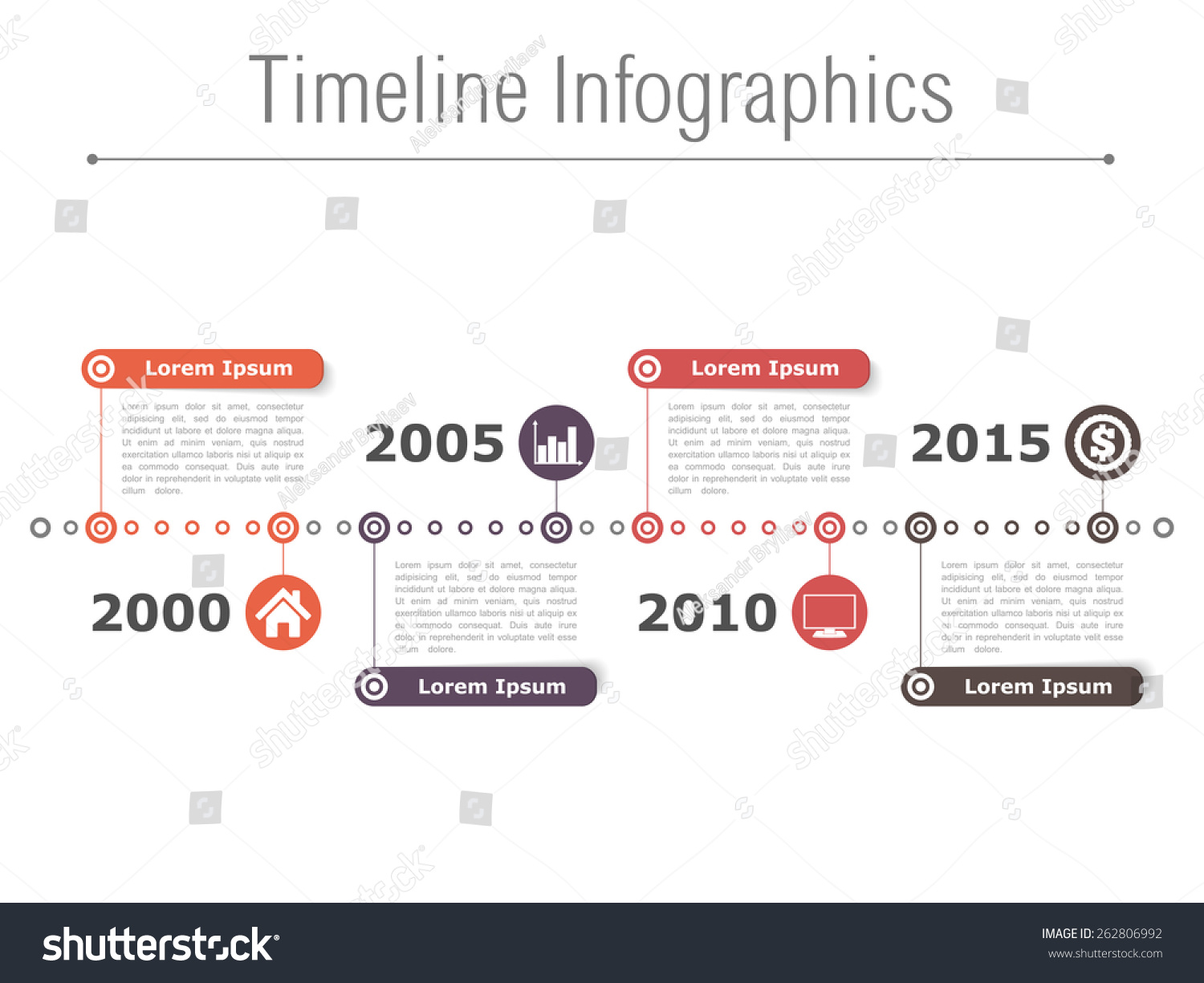 Horizontal Timeline Infographics Design Template Vector Lager ...
