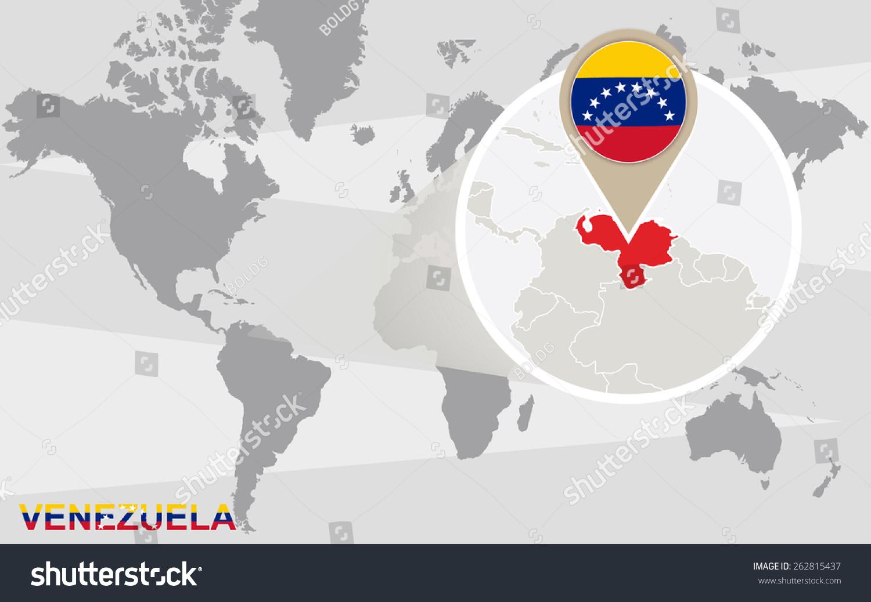 World map magnified venezuela venezuela flag stock vector 262815437 world map with magnified venezuela venezuela flag and map gumiabroncs Gallery