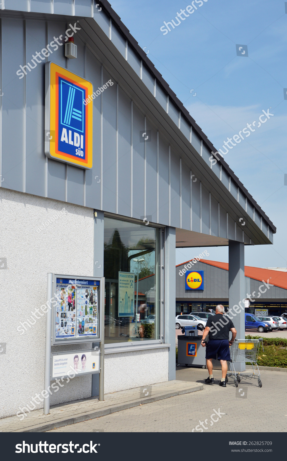 Renchen germany august 21 aldi lidl stock photo 262825709 renchen germany august 21 aldi and lidl supermarket near each other two biocorpaavc