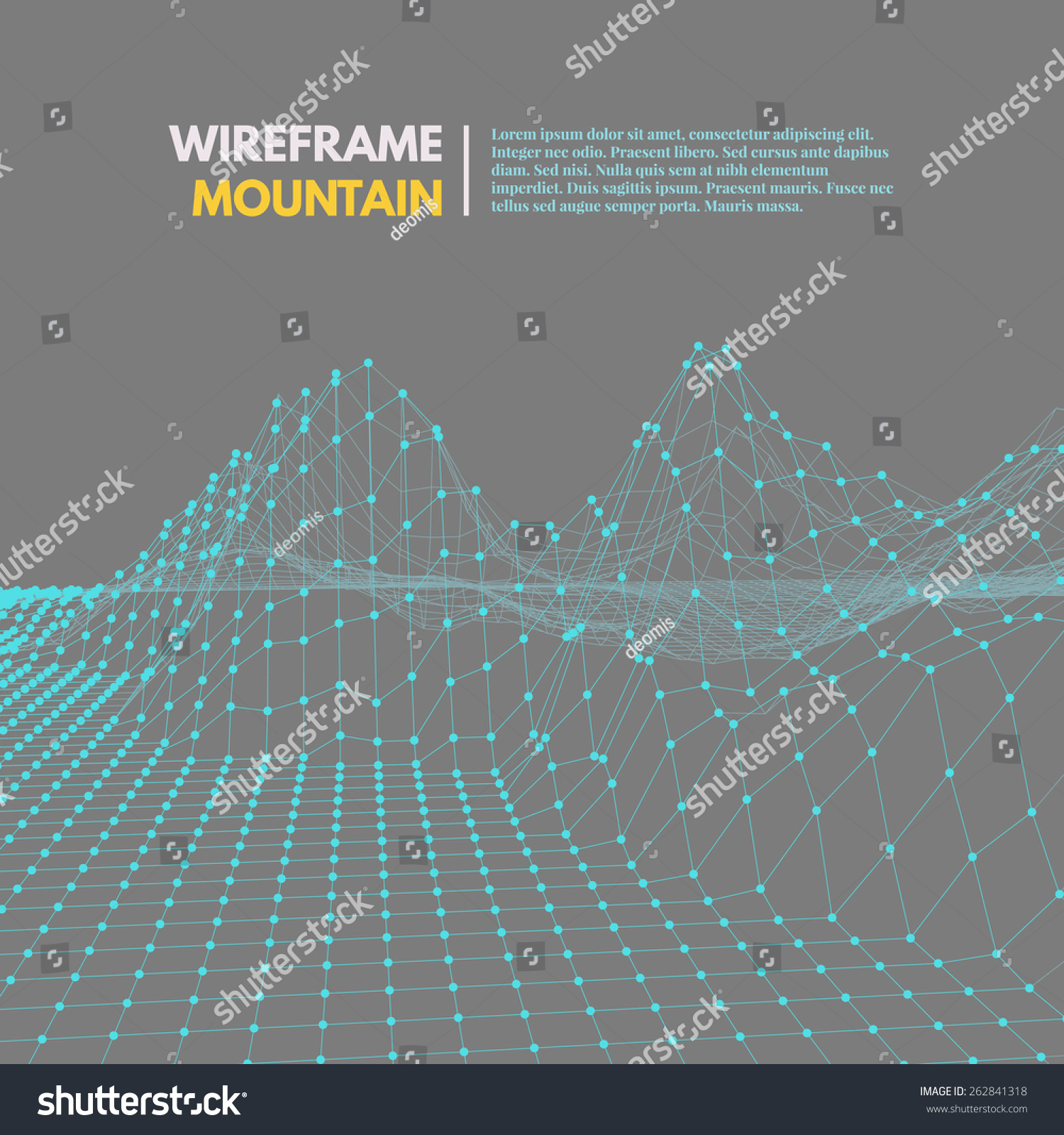 wireframe mountains wireframe mesh polygonal surface mountains with connected 7101