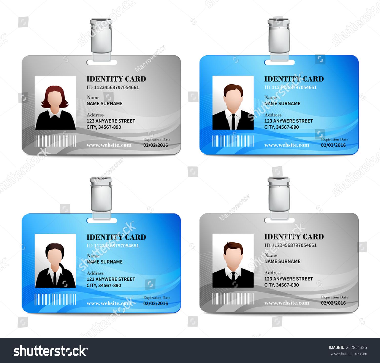 user id card realistic set male のベクター画像素材 ロイヤリティ