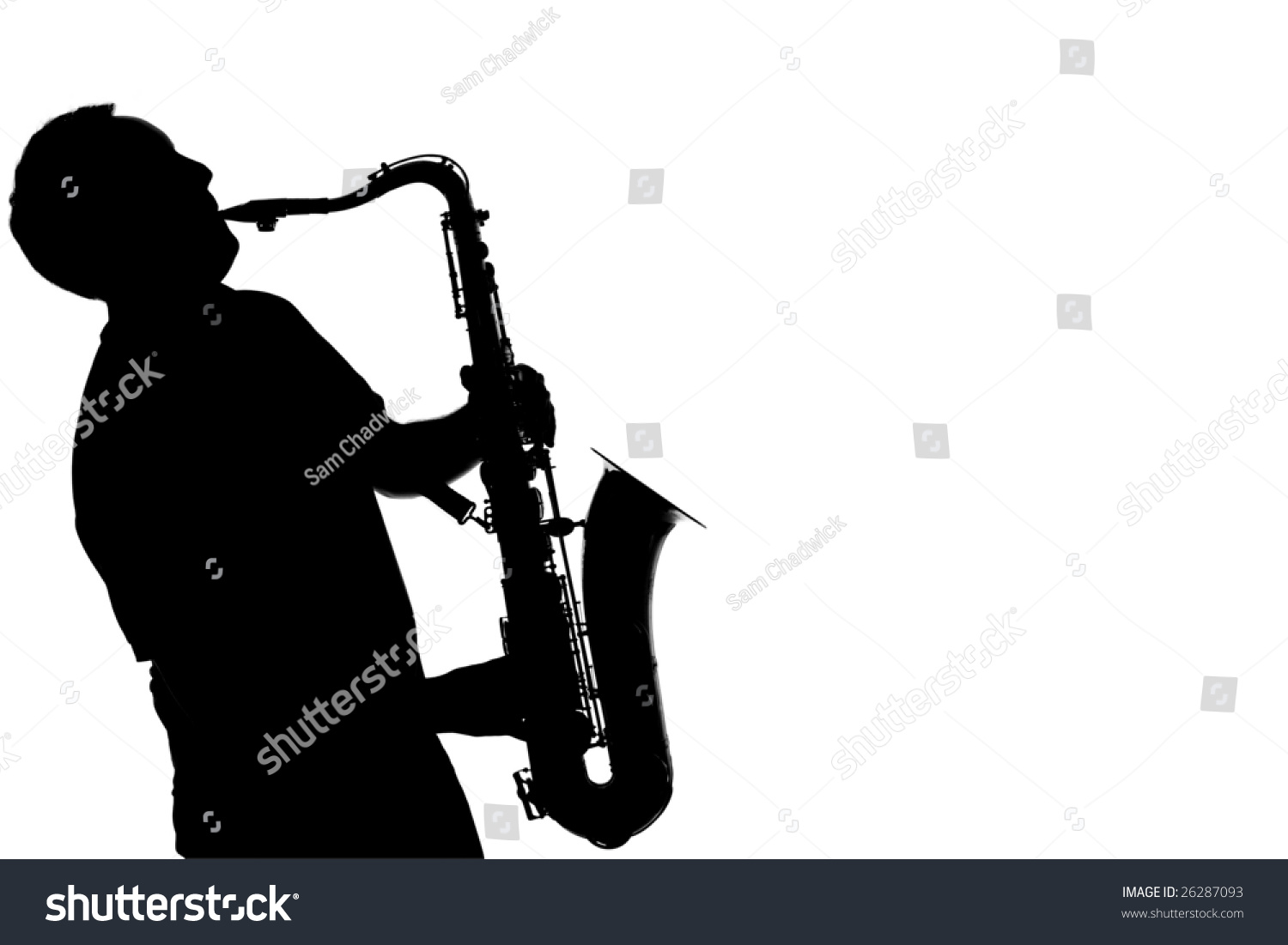 Silhouette Of A Man Playing A Saxophone Stock Photo ...
