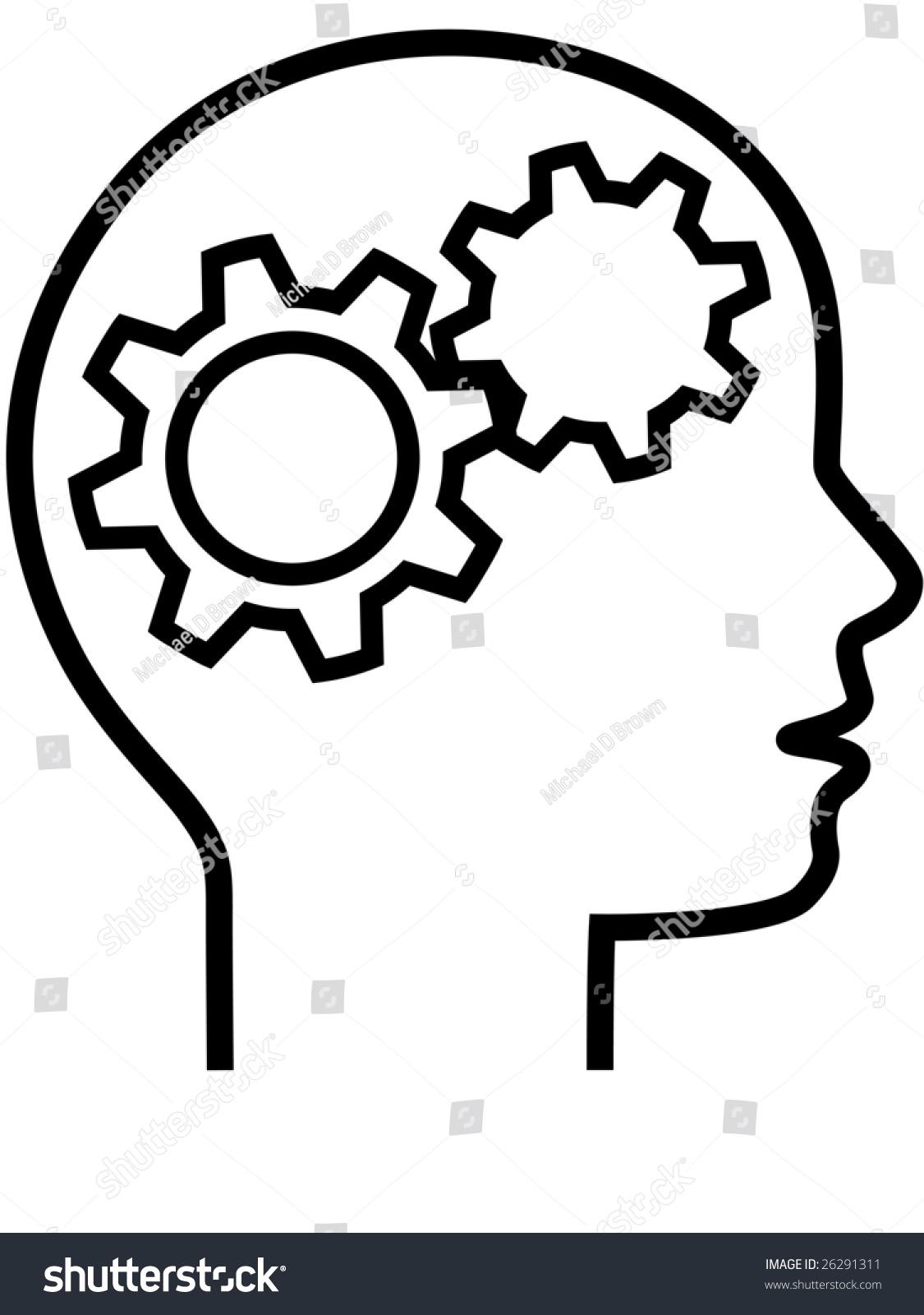 thinker inventor gear head brain 2 stock vector 26291311 shutterstock rh shutterstock com thinker clipart free thinker clipart
