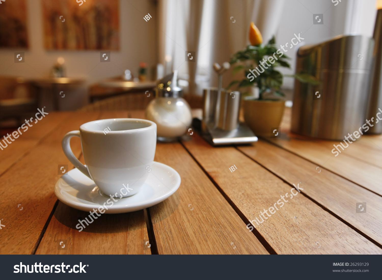 Breakfast table near window cup coffee stock photo 26293129 breakfast table near to the window with a cup of coffee geotapseo Gallery