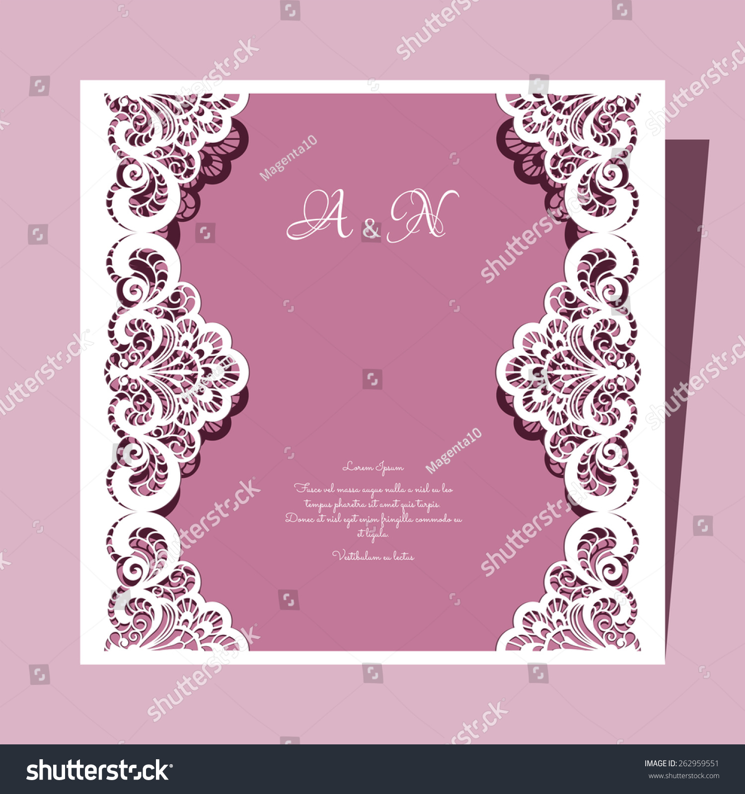 free vector wedding invitation lace template