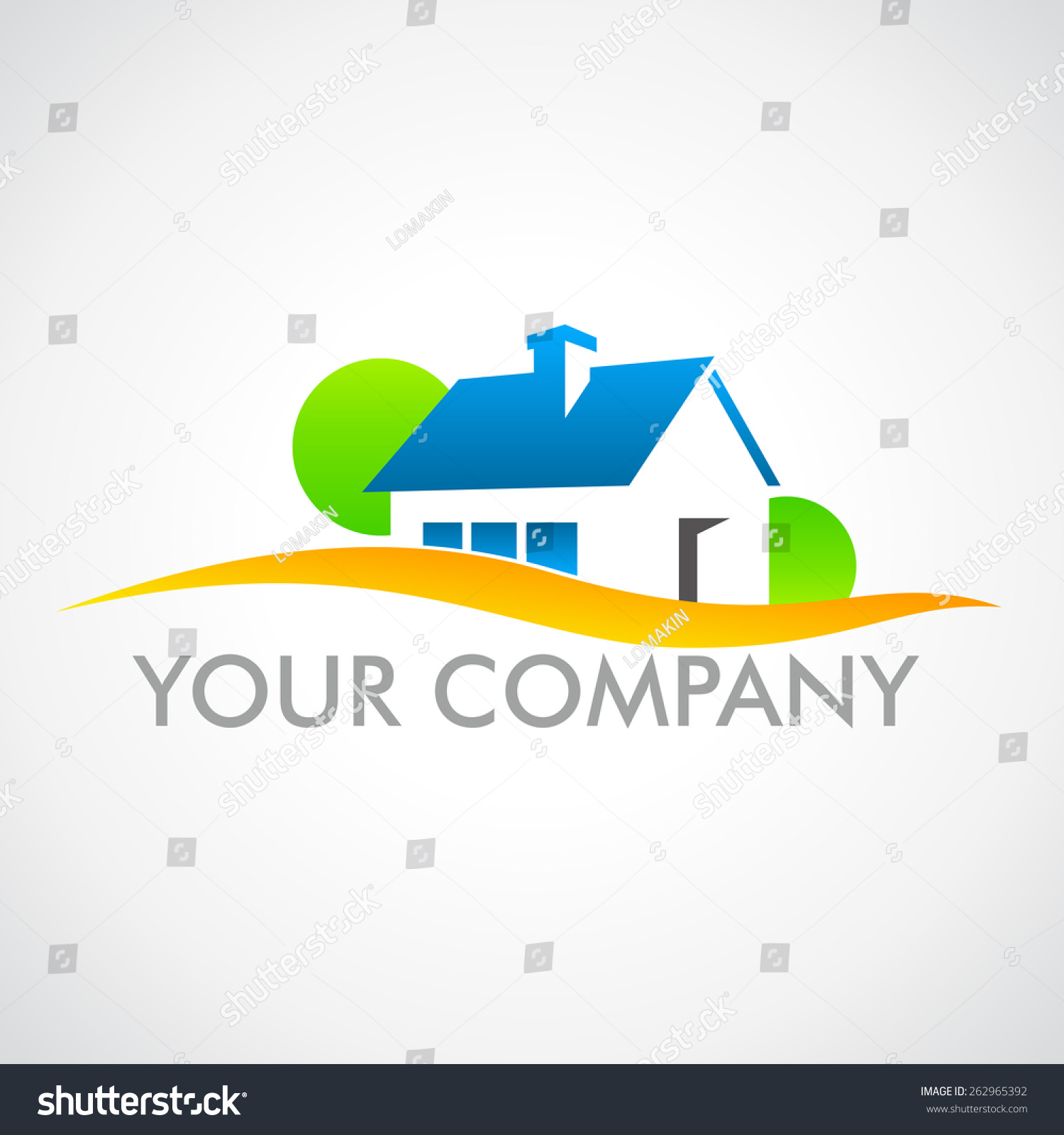Logo house company house sale logo stock vector 262965392 for Firm company