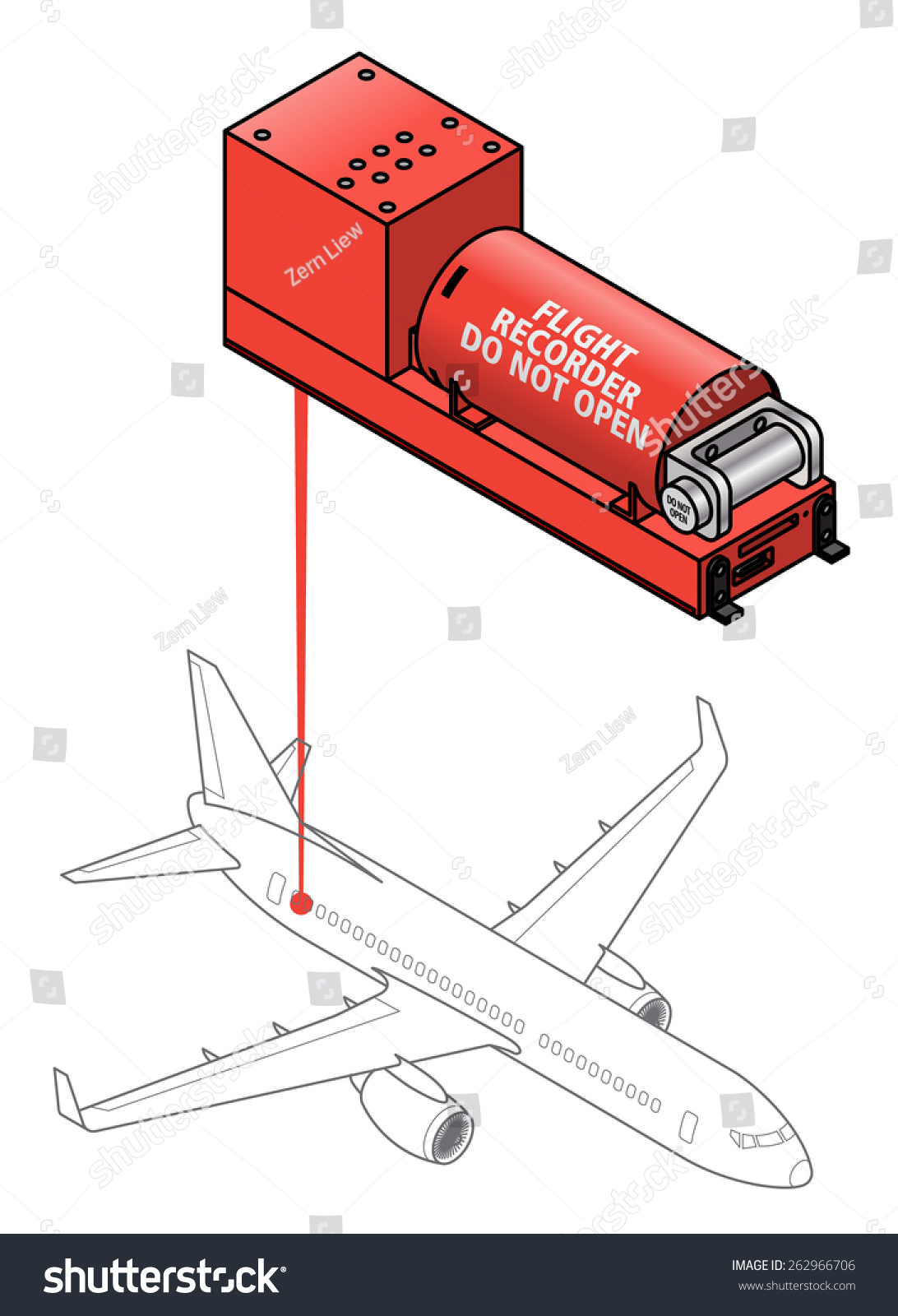 Flight Data Recorder Diagram Shows Typical Stock Vector 262966706