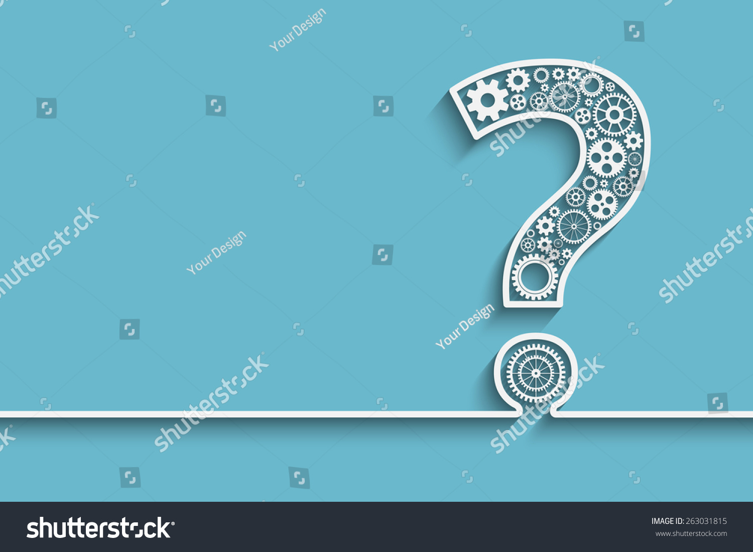 Creative question mark gears eps10 vector stock vector for Decor questions