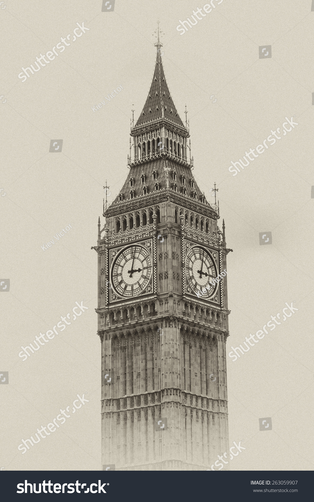 Big Ben Houses Of Parliament Westminster Palace London Gothic