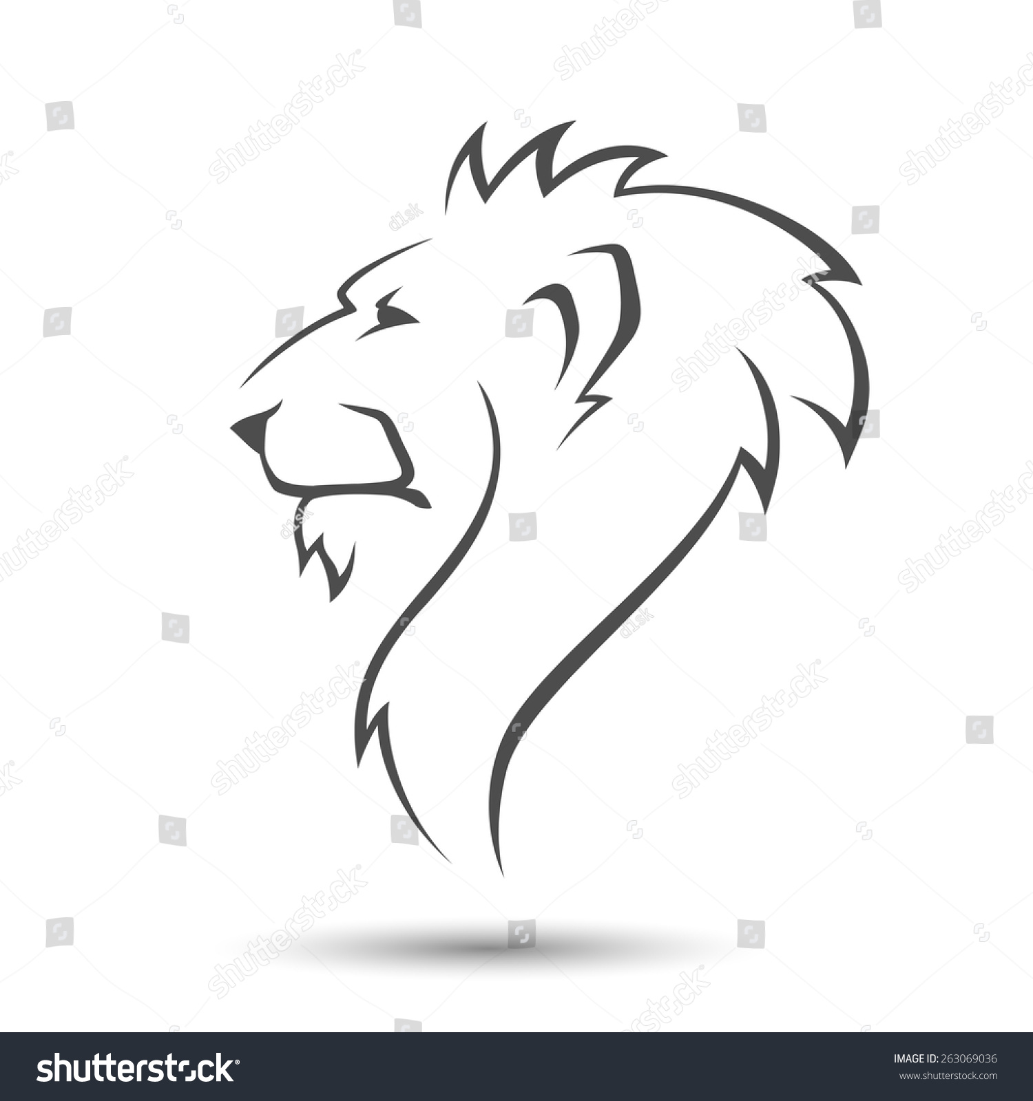 Image Gallery lioness face silhouette