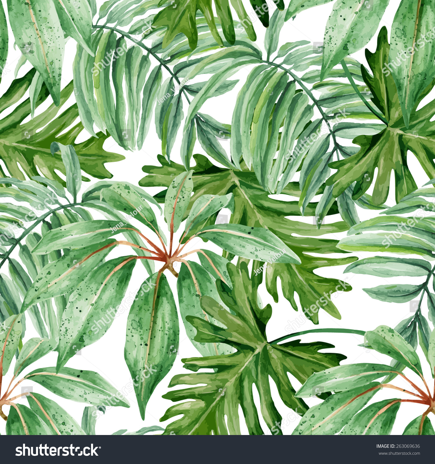 Rainforest Leaves Template Tropical Leaves ...