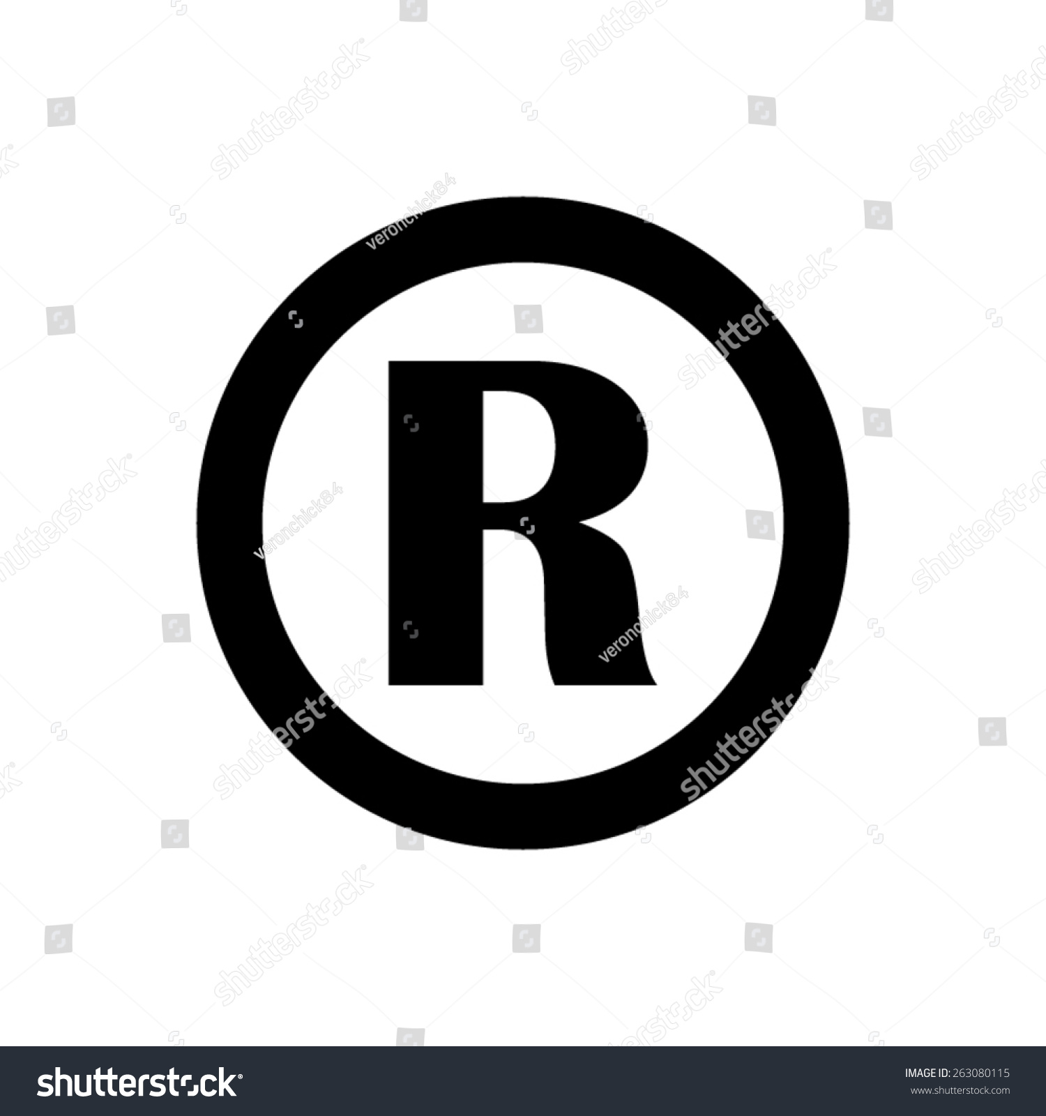 Registered trademark vector icon stock vector 263080115 shutterstock registered trademark vector icon biocorpaavc Choice Image