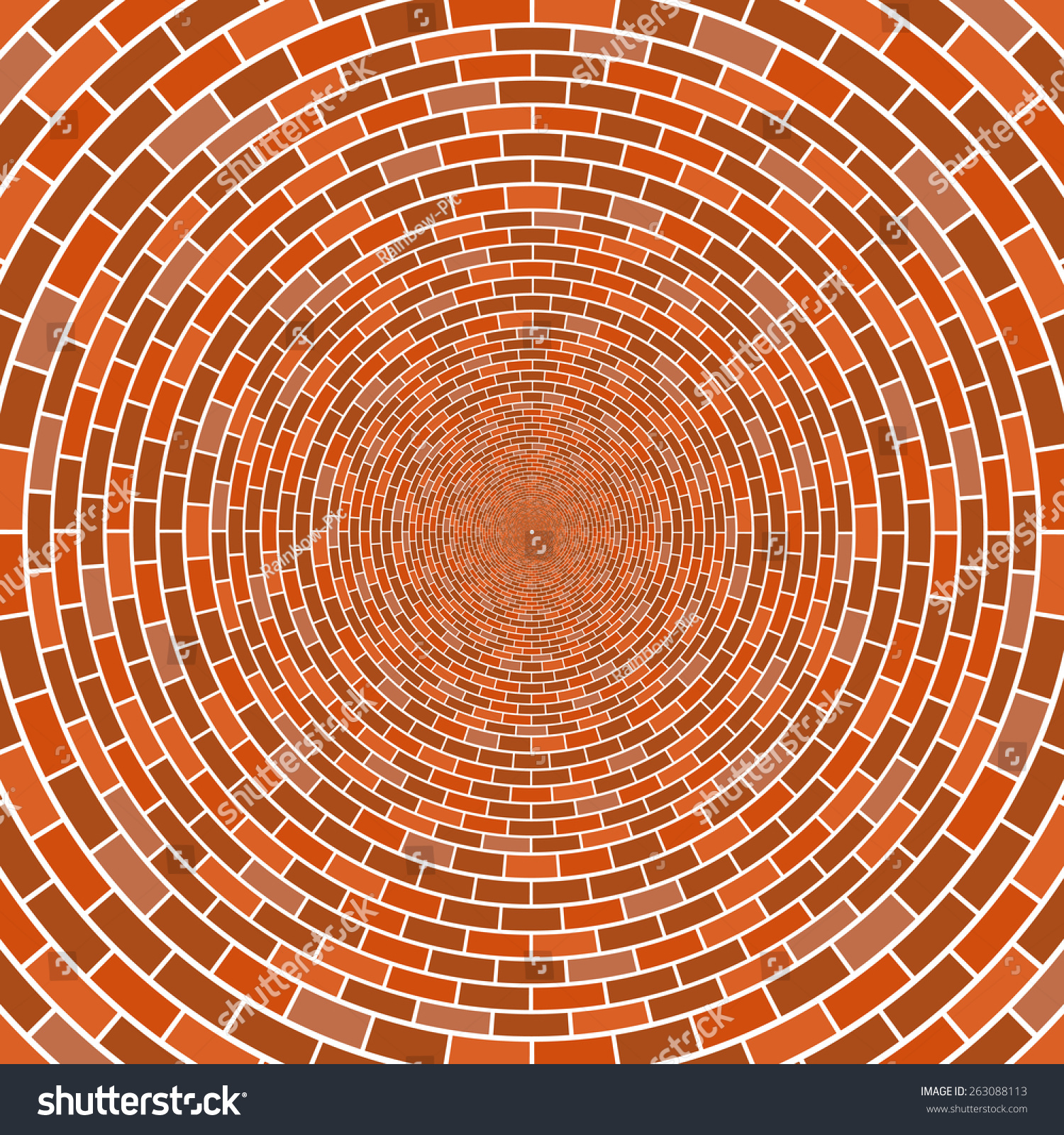 Brick Vector Picture Brick Veneers: Abstract Architectural Brick Wall Circle Optical Stock