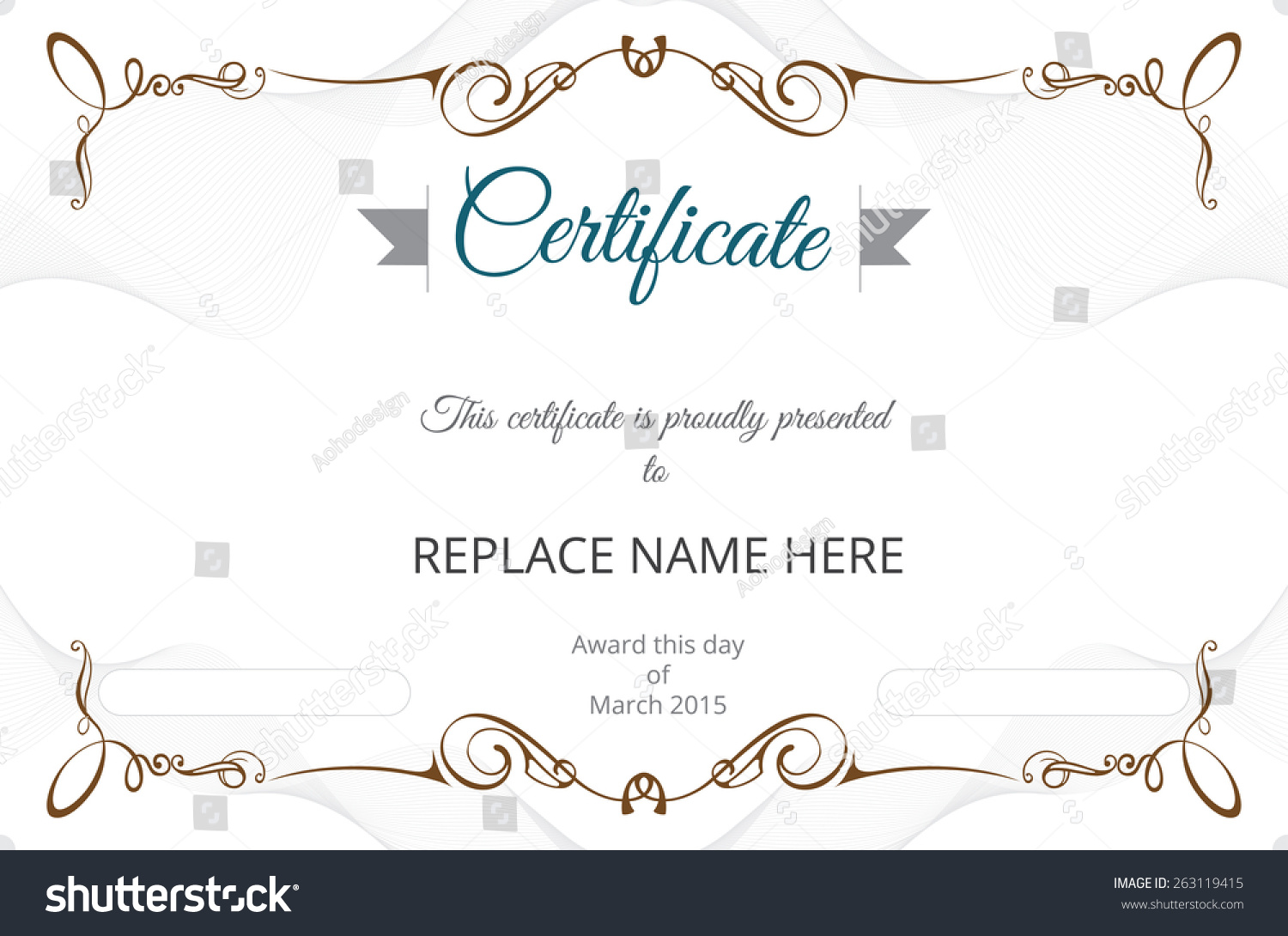 certificate border certificate template vector illustration stock certificate border certificate template vector illustration