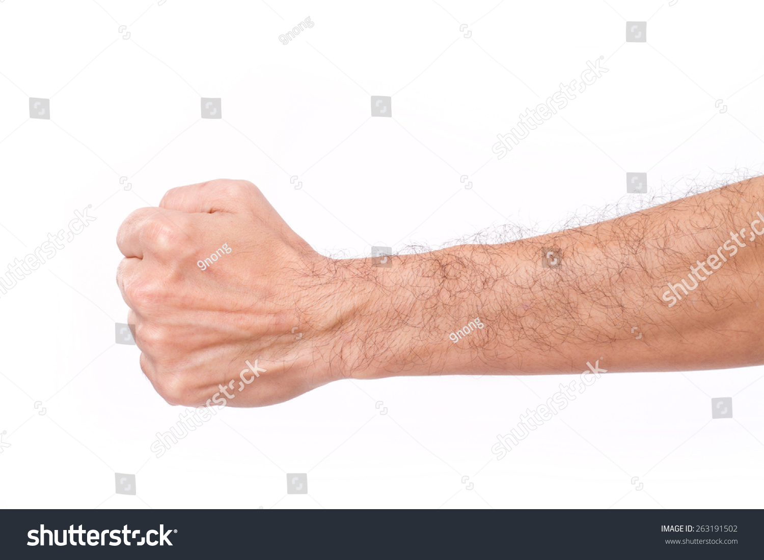 Armamento y Vestimenta: Guerreando en Calradia Stock-photo-man-s-fist-with-hairy-arm-263191502
