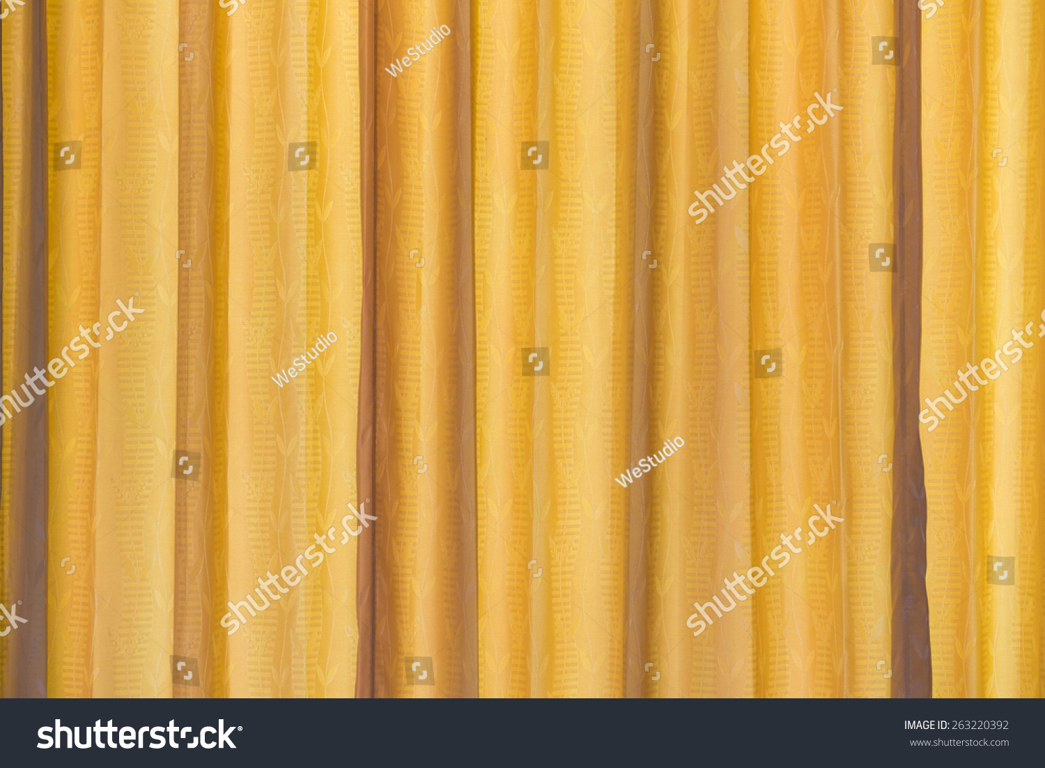 Yellow Curtain Fabric Texture Background Stock Photo 263220392 ...