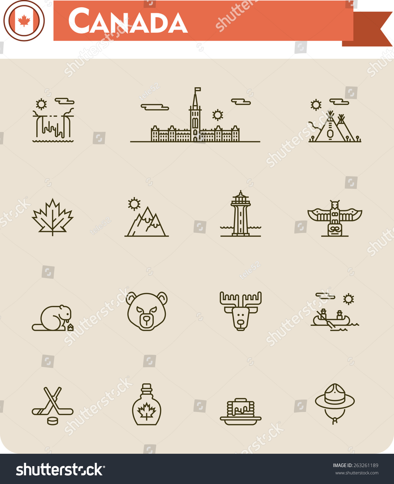 Simple Linear Vector Icon Set Representing Stock Vector Royalty